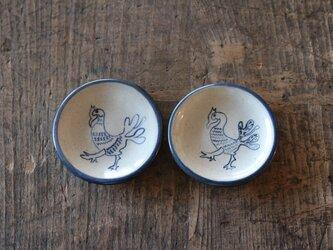 とりの絵付けの豆皿2枚セットの画像