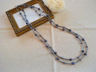 淡水パール二連ネックレスの画像