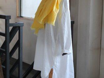 ビッグシルエット プルオーバーロングシャツ~ off white /french linenの画像
