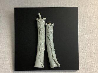 雛[陶額]灰釉ー磁器土の画像
