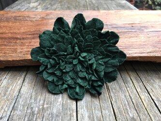 革花のブローチピン 3Lサイズ  深緑の画像