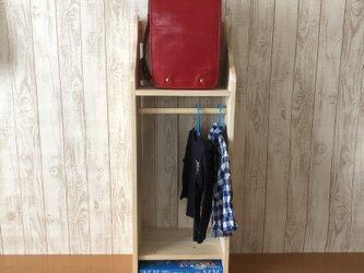 ランドセルラック ハンガーラック マガジンラック*家具*~ミディアム~39Hの画像