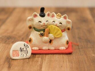 福々招き猫びな ペア 招き猫のお雛様の画像