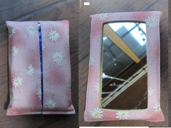 p1 鏡付ポケット ティッシュケース,ティッシュカバーの画像