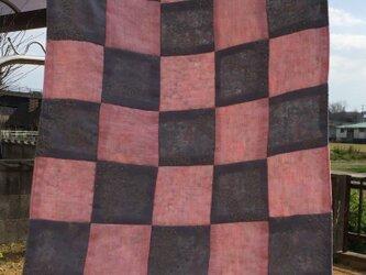 四角つなぎの布カバー・クロス・ マット 敷物  パッチワークの画像