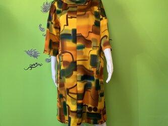 着物から作ったワンピース 春霖の画像