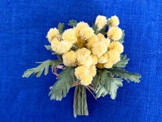 布花 ミモザのブーケコサージュBの画像