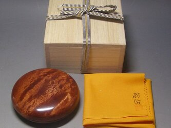 楓縮杢斑杢材 スカーレット ミニ食籠 香盒にも 小物入れの画像