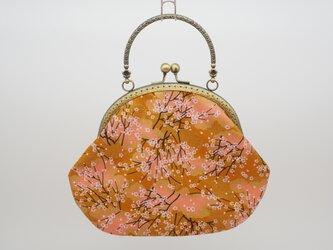 気持ち華やぐがま口バッグ(口金16.5センチ)和柄・梅の画像