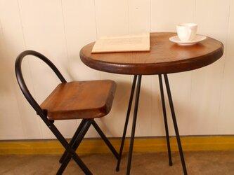 けやきカフェテーブル・イス(1)2-7の画像