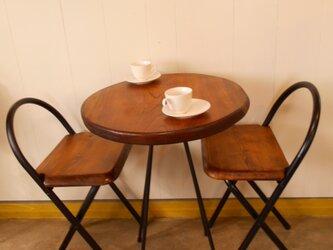 けやきカフェテーブル・イス(2)2-7の画像