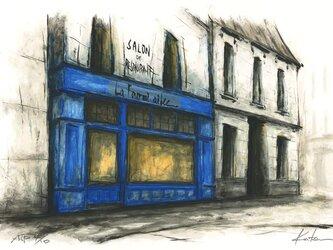 風景画 パリ 版画「Le Fourmi Ailee」の画像