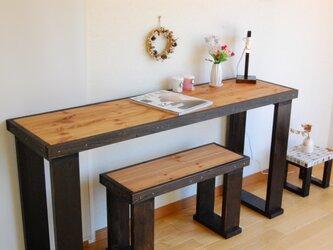 作業テーブル(四角脚)135 チョコブラックの画像