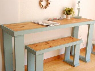 作業テーブル(四角脚)135 テーブルブルーの画像