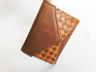 """小さな三つ折り財布 """"Ripper""""マイクロウォレット イタリア産ブッテーロ×日本産バローロ<ベージュ> 名入れ・ギフト包装無料の画像"""