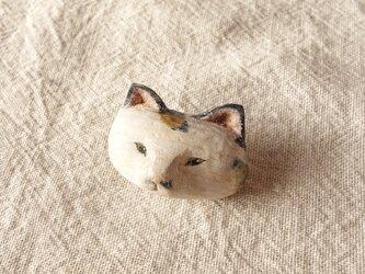 三毛ネコのブローチ2の画像