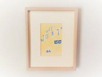 「黄金通りの帰り道」イラスト原画 ※木製額縁入りの画像