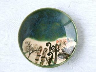 織部平皿(春の野草)の画像
