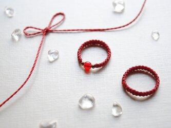 運命の赤い糸*ピンキーリングの画像