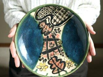 織部の大皿・野葡萄柵文の画像