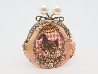 気持ち華やぐがま口ポーチ・コインケース(口金8.5センチ)アニマル・カーニバル(ピンク)の画像