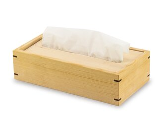 ヒバ薫るティッシュケース ふるさと返礼品でも人気の画像