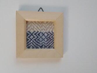 北欧風ホームスパンの手織りミニフレーム Aの画像