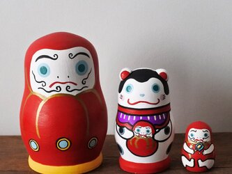 マトリョーシカ3個組(だるまと犬張子 )の画像