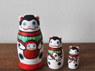 マトリョーシカ3個組(犬張子の遊び )の画像