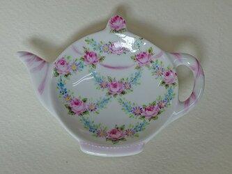 ティーバッグトレイ(小薔薇とリボン1)の画像