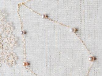 マルチカラーパールのネックレス14kgfの画像