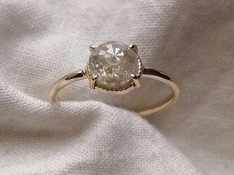 ライトレモンカラーダイヤモンドリングの画像