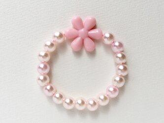ビーズブレスレット ピンクの画像