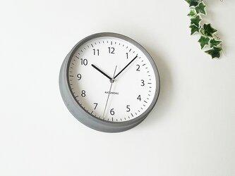 KATOMOKU muku clock 4 グレー km-57GRC 電波時計 連続秒針の画像
