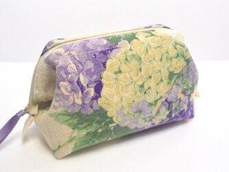 紫陽花(パープル)ワイヤーポーチ(Ⅱ)の画像
