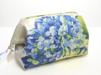 紫陽花(ブルー)ワイヤーポーチ(Ⅷ)の画像