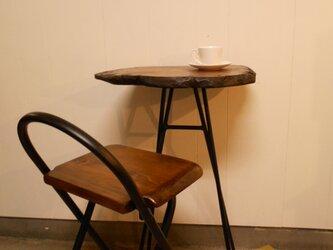 ひとりカフェテーブル・イス(1)セット2-7の画像