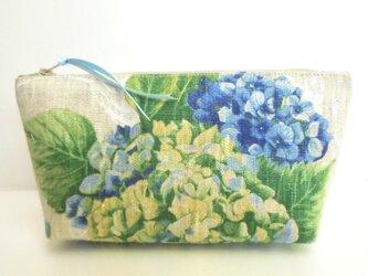 紫陽花(ブルー) ポーチ(Ⅴ)の画像