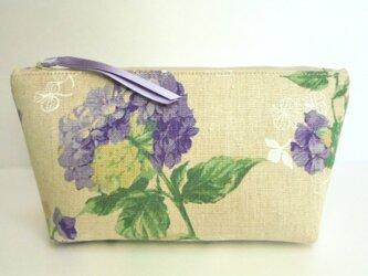 紫陽花(パープル) ポーチの画像
