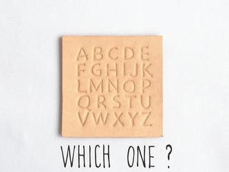 ■追加オプション■ 1文字アルファベット刻印 #すべての革作品用 の画像