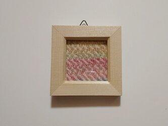 北欧風ホームスパンの手織りミニフレーム Bの画像