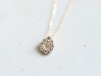 永遠不変 K18金 しずく天然ダイヤモンドのネックレス 4月誕生石 単品の画像