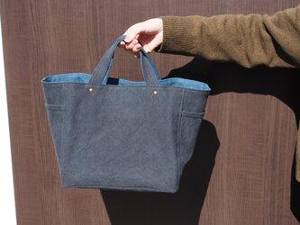 jjさま用 soft cube bag ネイビー/ブルーの画像