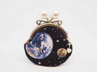 気持ち華やぐがま口ポーチ・コインケース(口金8.5センチ)宇宙の画像