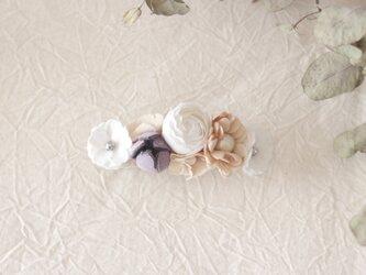 お花のバレッタの画像