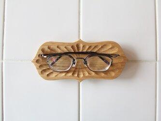 メガネ皿 栗1の画像