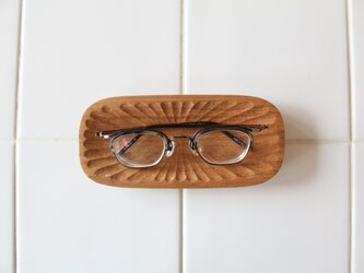 メガネ皿 胡桃2の画像