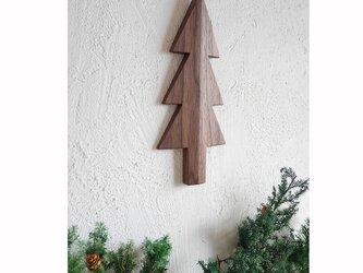 もみの木の壁飾り Mサイズ(ウォルナット材)の画像