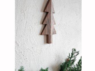 もみの木の壁飾り Sサイズ(ウォルナット材)の画像