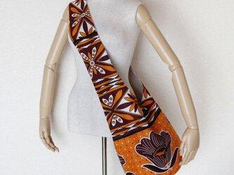 アフリカ布のショルダーバッグ   フラワーの画像